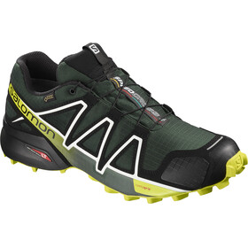 Salomon M's Speedcross 4 GTX Shoes darkest spruce/black/acid lime
